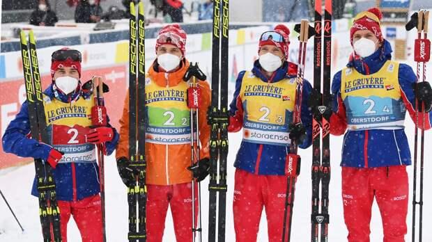 Великий русский лыжник Большунов отыграл 35 секунд у Норвегии за 4 км, но не победил. Россия — 2-я в эстафете на ЧМ
