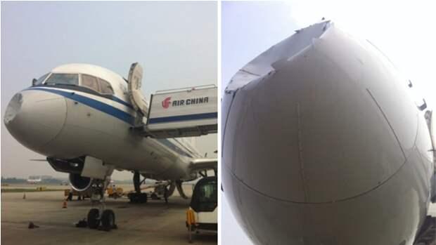 Китайский самолет столкнулся с НЛО?