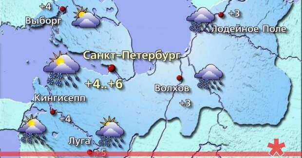 Петербург засыпет снегом без бурана