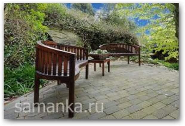 Деревянные скамейки для дачи фото 6 Увеличить
