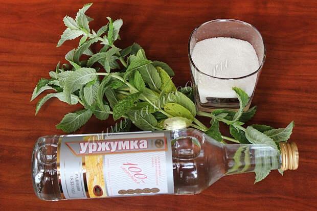 Спиртные напитки. Мятный ликер