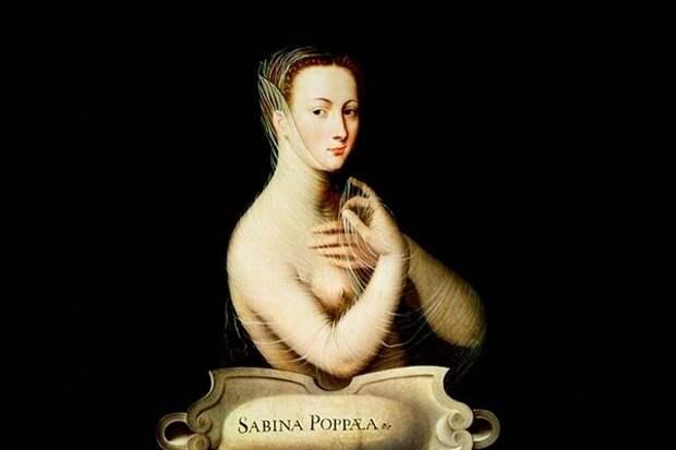 Портрет Сабины Поппеи. Неизвестный мастер школы Фонтенбло, 1580 год.