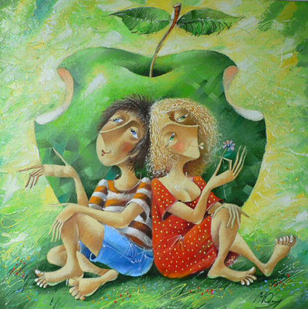 Две половинки одного яблока. Автор: Юрий Мацик.
