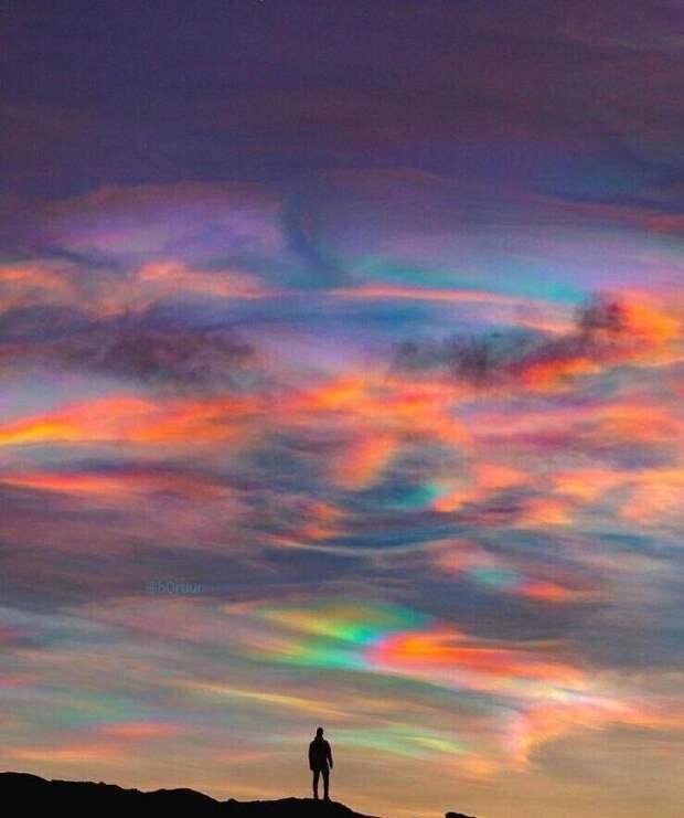 Полярные стратосферные облака над Исландией