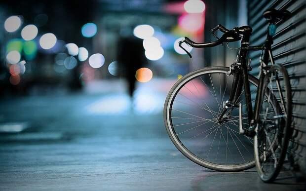 Велосипед, Боке, Огни, Макрос, Тротуар, Синий Свет