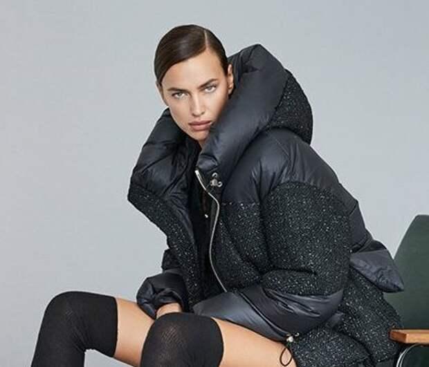 Как выглядеть модно и оставаться в тепле: выбираем пухвик на примере Ирины Шейк