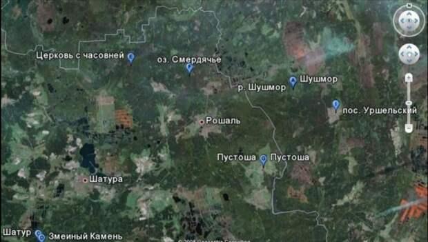 карта точная Шушмор
