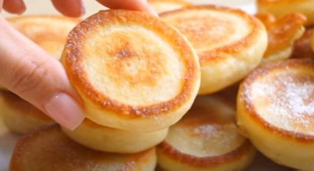 Оладьи как пончики. Вкусные и пышные: завтрак за 15 минут
