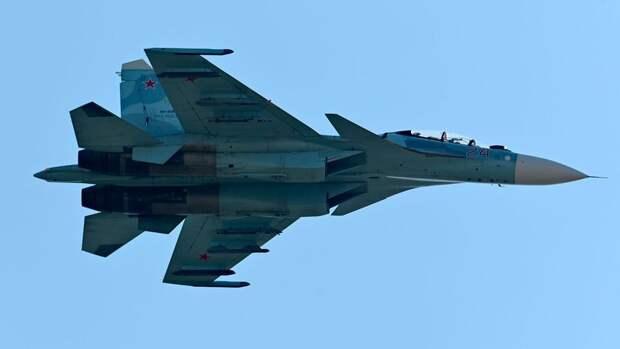 Су-27 вылетел на перехват самолетов ЕС и США над Балтийским морем