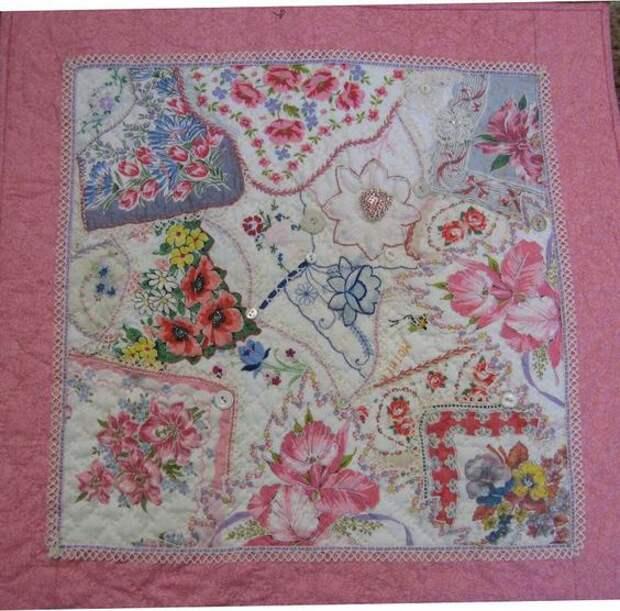 Пэчворк одеяла из платочков