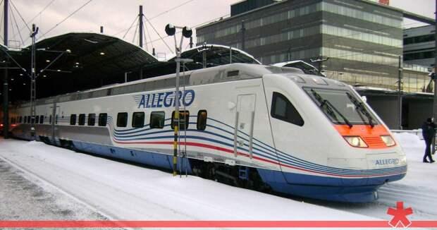 Второй поезд «Аллегро» опоздал в Петербург из-за обрыва ЛЭП