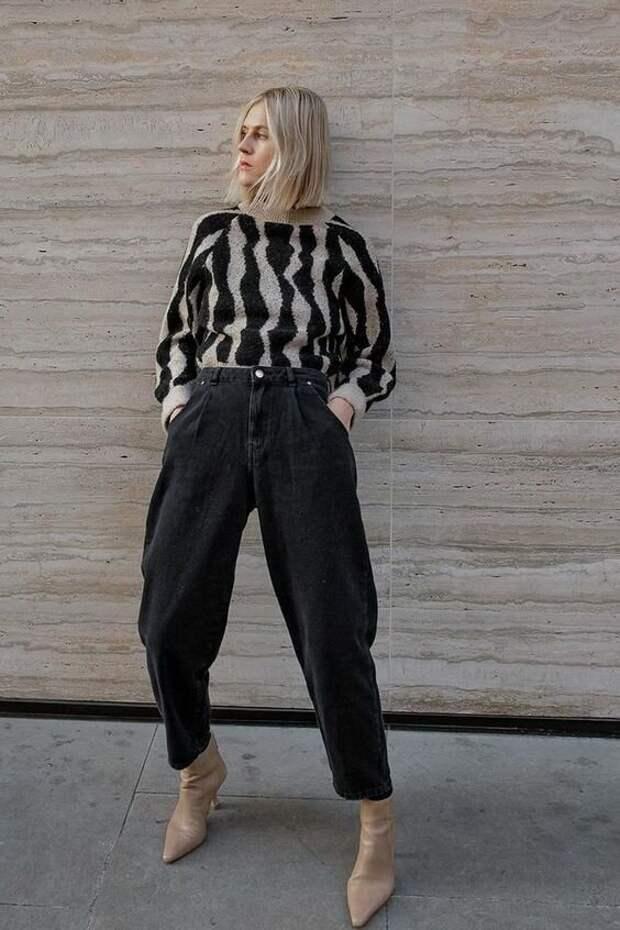 Хит осени 2020 – джинсы слоучи: С чем носить