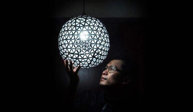 diylamps04 21 идея изготовления светильников и люстр из повседневных предметов