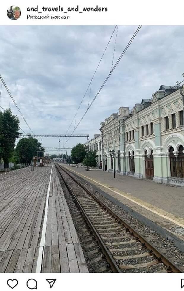 Фото дня: пустой перрон Рижского вокзала