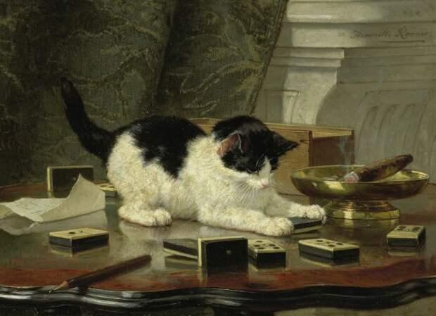Генриетта Роннер-Книп – Игра котёнка. \ Фото: sarahbguestperry.blog.