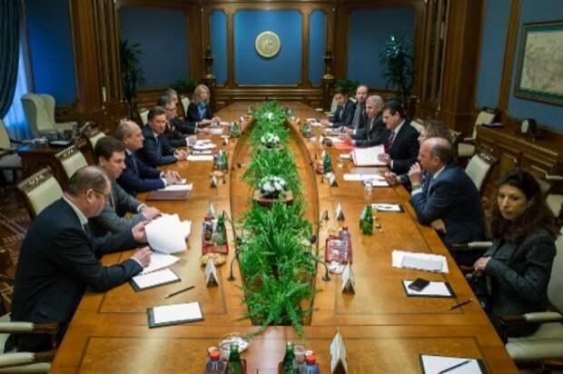 В центральном офисе «Газпрома» состоялась рабочая встреча Алексея Миллера иМароша Шефчовича