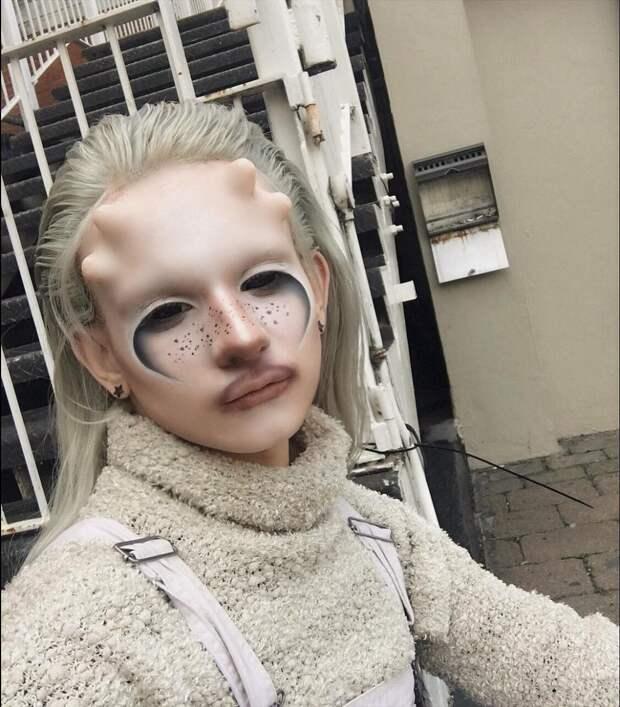 10 очень страшных фото инопланетной девушки Salvia