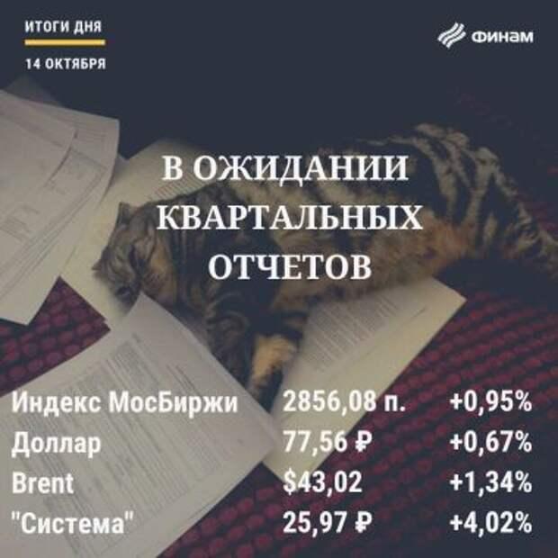 Итоги среды, 14 октября: Тиньков разогнал котировки