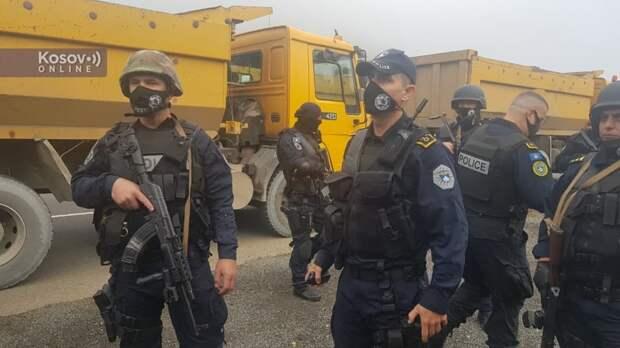 Провокация сепаратистов: Власти Приштины нагнали на границу боевиков, чтобы изымать сербские автомобильные номера