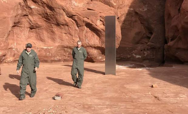 Монолит из пустыни, который поднял шум на прошлой неделе, исчез