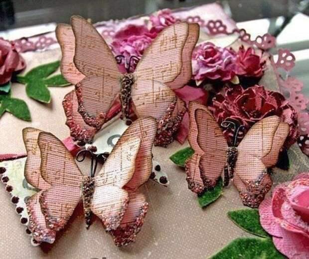 Делаем бабочек для декорирования подарков