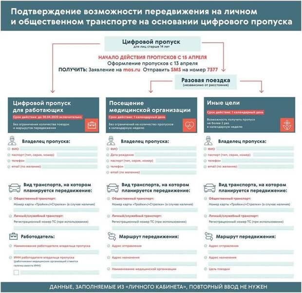 В Москве с 15 апреля начнут действовать цифровые пропуска на поездки