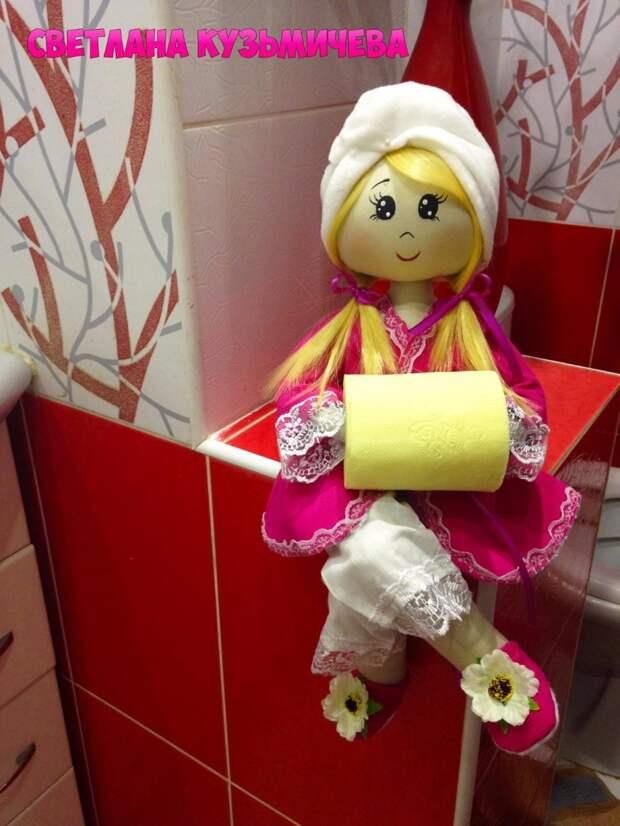 Интерьерные текстильные куколки-держательницы Светланы Кузьмичевой