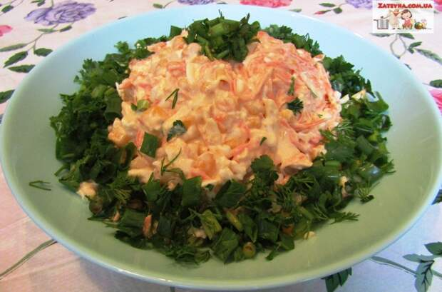 Салат с копченым сыром «Косичка» и морковью по-корейски