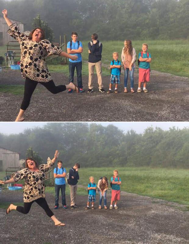 Родители радуются возвращению детей за парты