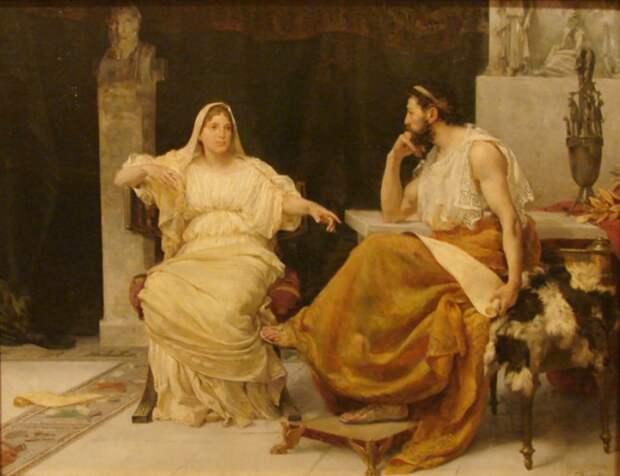 Перикл и его жена – гетера Аспасия.   Фото: lifo.gr.