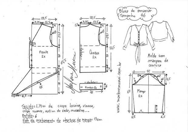 Выкройка модной блузы