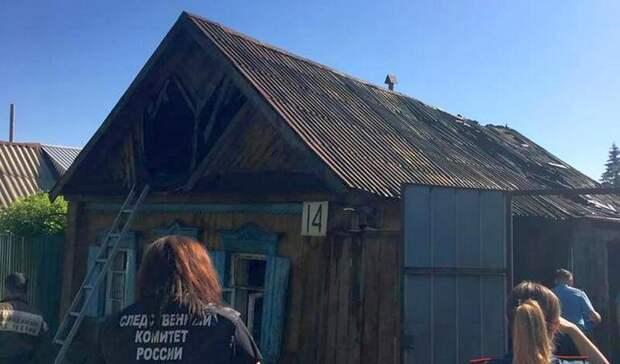В Бугуруслане на пожаре погибла женщина и двое маленьких детей