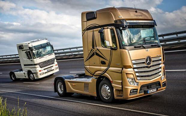Грузовики Mercedes-Benz Actros: двадцать лет спустя