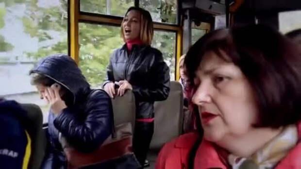 «Сенсация из Крыма!» — люди в маршрутках «поют» гимн Украины (ВИДЕО)