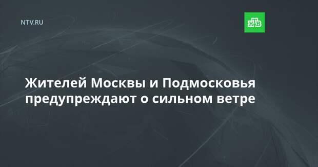 Жителей Москвы и Подмосковья предупреждают о сильном ветре