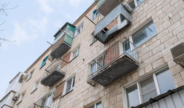 Жительница Волгограда пострадала при обрушении балкона в жилом доме