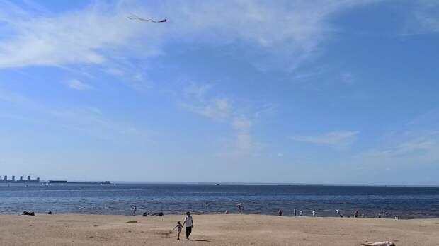 Нудист пытался сбежать от полиции на петербургском пляже