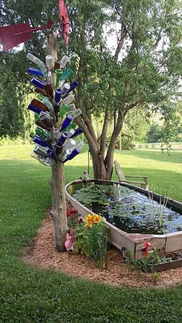 Небольшой водоем облагородит и улучшит любой сад или придомовую территорию. /Фото: googodecor.com
