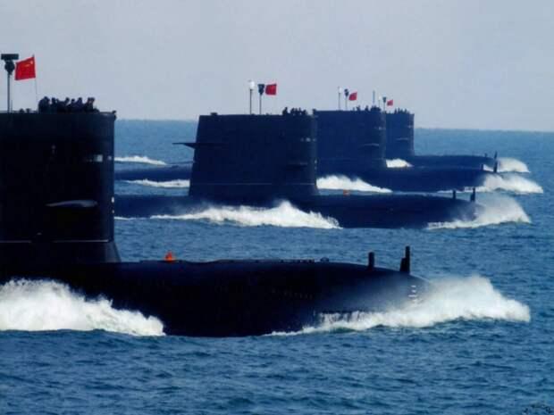 Совместные действия подводных флотов России и Китая. Источник изображения: https://vk.com/denis_siniy