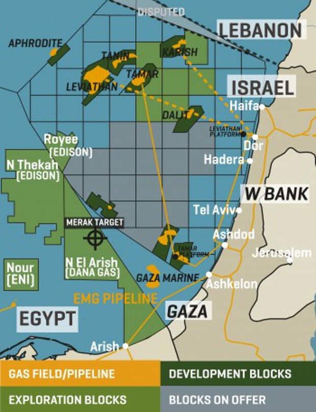 ВСредиземном море остановили газодобывающую платформу рядом ссектором Газа