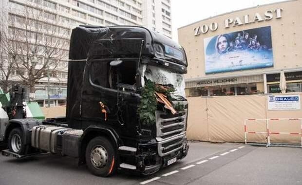 На грузовике, ставшем орудием теракта в Берлине, сработала система автоторможения
