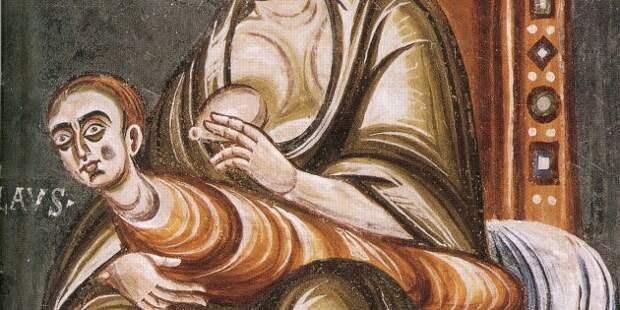Дети Средневековья: фреска, изображающая отлучение от груди святого Николая