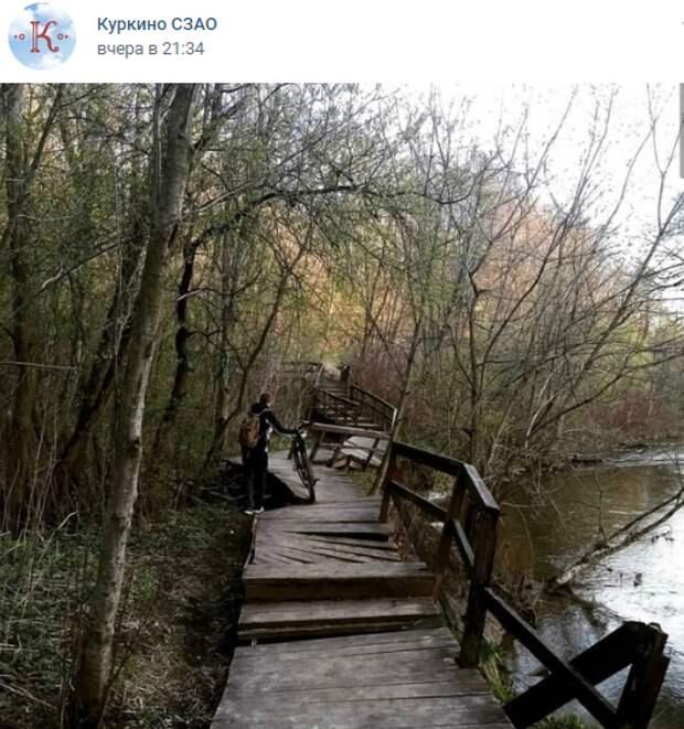 Вход на опасную для жизни экотропу в долине реки Сходни закрыли