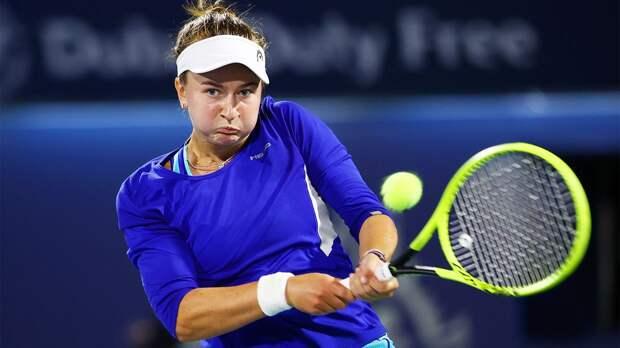 Крейчикова победила Гарсию и сыграет с Александровой в четвертьфинале турнира в Страсбурге