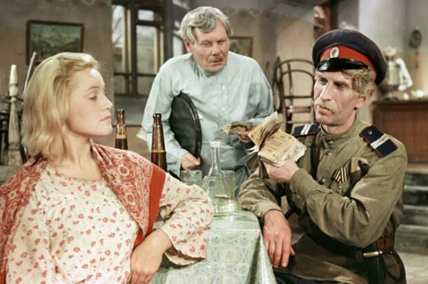 Сергей Филиппов в роли казака в фильме «Олеко Дундич», 1958 год. Кадр из фильма