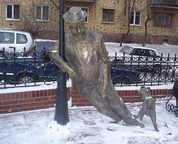 Памятник пьянице.