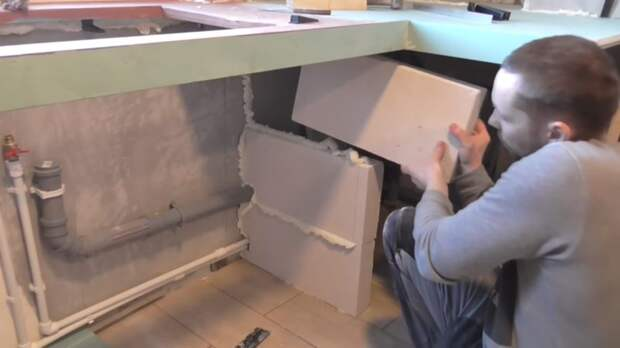 Интересный эксперимент: столешница для кухни из гипсокартона