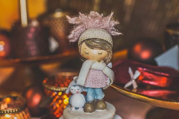 Рождество, Фигура, Оформление, Милый, Приход, Зимой