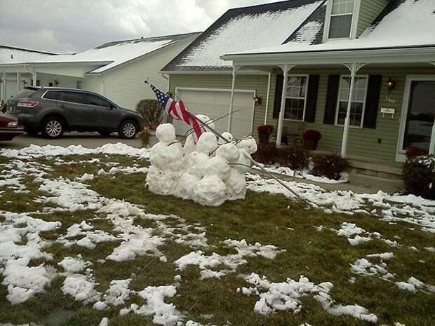 25 чрезвычайно творческих снеговиков