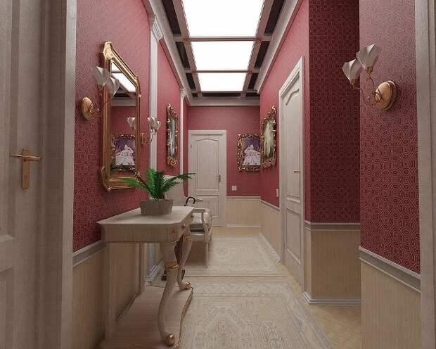 Современные обои для прихожей и коридора: фото и разновидности (104 фото)